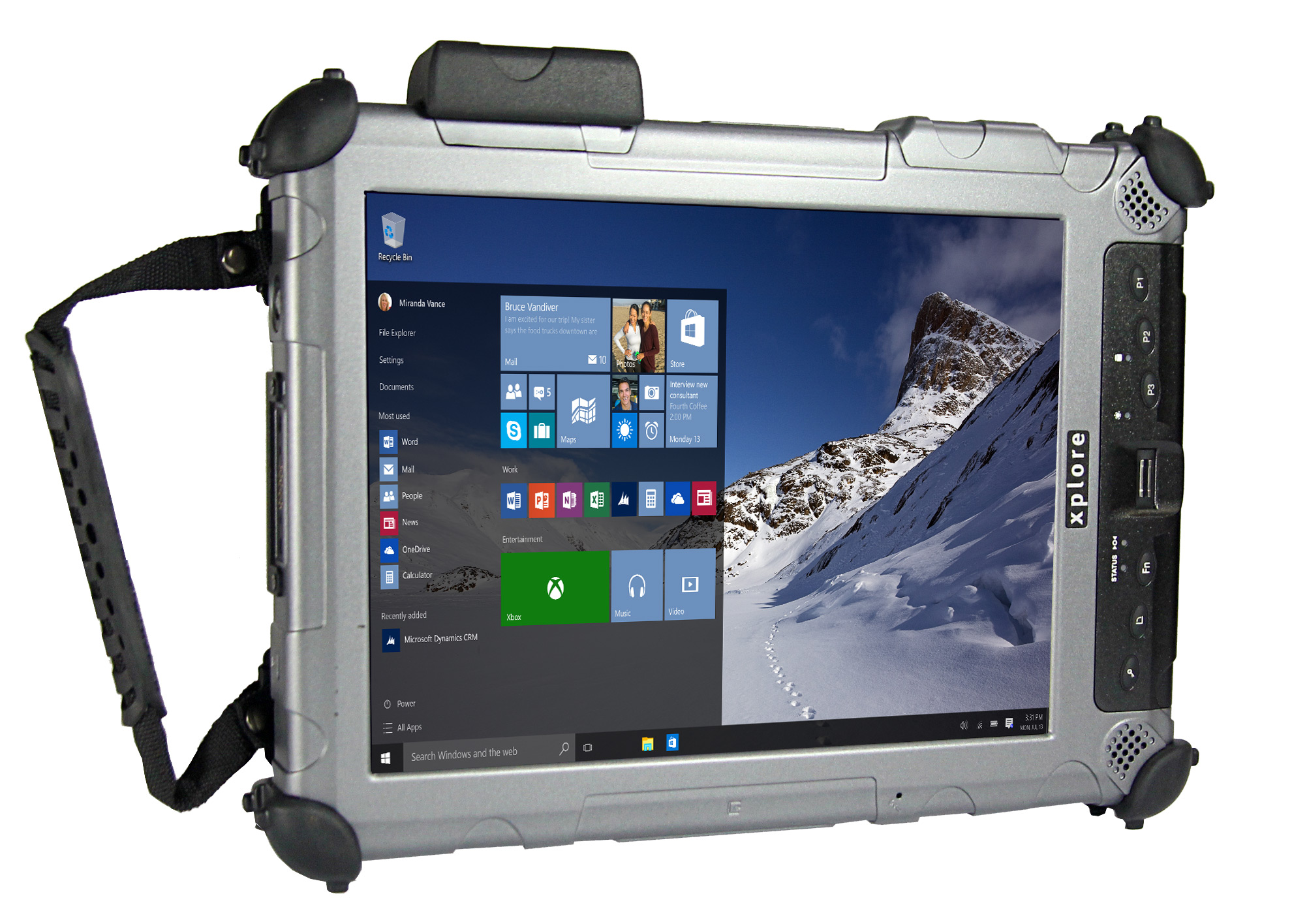 XC6 DMSR: The Sunlight Readable and Ultra Rugged XC6 DMSR Windows® 7/8.1/10 tablet.